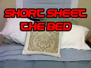 Short Sheet the Bed Prank