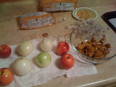 Caramel Onion Apple Prank Ingredients